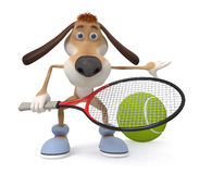 Dog tennis player Royalty Free Stock Images