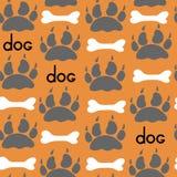 Dog Textile Pattern. Vector seamless. Royalty Free Stock Photos