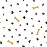 Dog theme seamless background Royalty Free Stock Photography