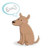 Dog thinking about bone Stock Image