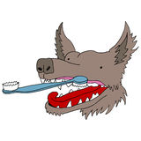 Dog Toothbrush Royalty Free Stock Images