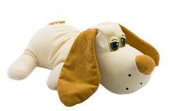 Dog-toy. Dog - toy made the hands isolated on the white background stock images
