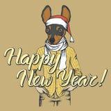 Dog Christmas vector illustration Royalty Free Stock Photos