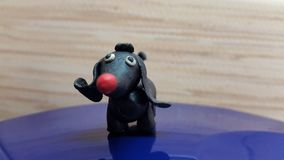 Toys dog. Handmade from plasticine Royalty Free Stock Images