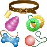 Dog toys set Royalty Free Stock Photography