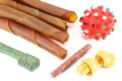 Dog Toys and Treats Stock Image