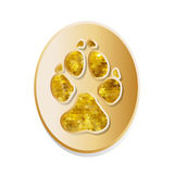 Dog track icon vector Royalty Free Stock Photography
