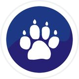 Dog track web button Royalty Free Stock Photos