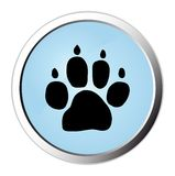 Dog track web button Royalty Free Stock Images