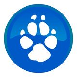 Dog track web button Royalty Free Stock Photo
