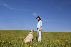 Dog trainer Royalty Free Stock Image
