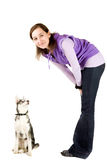 Dog training Royalty Free Stock Image