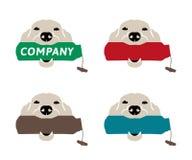 Dog with training dummy logo Royalty Free Stock Photo