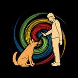 Dog training , A man training a dog Royalty Free Stock Image