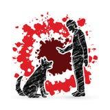 Dog training , A man training a dog Royalty Free Stock Photo