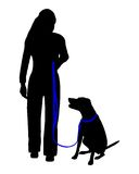 Dog training (obedience) Royalty Free Stock Photos