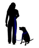 Dog training (obedience) royalty free illustration