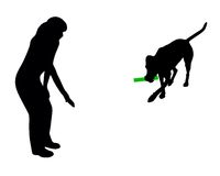 Dog training (obedience) stock illustration