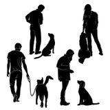 Dog Training Vector Silhouette Stock Vector royalty free illustration