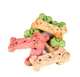 Dog treat biscuits, isolated Royalty Free Stock Image