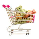 Dog Treat Shopping. A shopping cart full of the pets favorite treat for when he is on good behavior Royalty Free Stock Photos