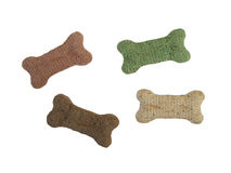 Dog Treats. Red, brown, green, yellow royalty free stock photos