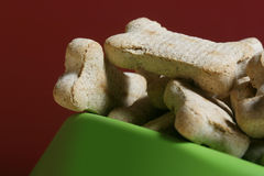 Dog Treats. A closeup of dog treats Royalty Free Stock Images
