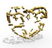 Dog treats Heart. Stylized heart composed of bone shaped dog treats Stock Photos