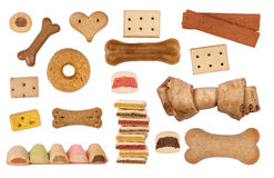 Dog treats isolated on white Royalty Free Stock Photo
