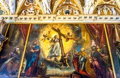 Dog tro som målar Titian Palazzo Ducale Doge& x27; s-slott Venedig det Fotografering för Bildbyråer