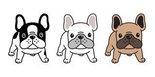 Dog vector french bulldog icon cartoon character puppy breed logo illustration. Cute royalty free illustration