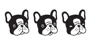Free Dog Vector French Bulldog Icon Cartoon Character Puppy Head Logo Illustration Black Stock Images - 138190104