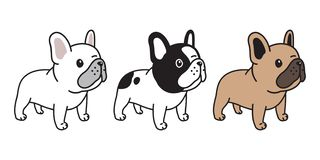 Dog vector french bulldog icon character cartoon puppy breed logo illustration doodle. Cute royalty free illustration