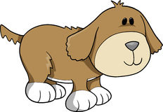 Dog Vector Illustration. Cute Brown Dog Vector Illustration Royalty Free Stock Photography