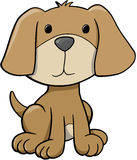 Dog Vector Illustration. Brown Puppy Dog Vector Illustration Royalty Free Stock Image