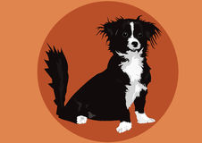 Dog in vector. Illustration of a black and white dog in vector vector illustration