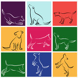 Dog vector set Royalty Free Stock Image