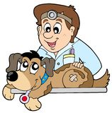 Dog at veterinarian stock illustration