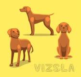 Dog Vizsla Cartoon Vector Illustration Stock Image