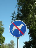Dog walk prohibited sign Royalty Free Stock Photography