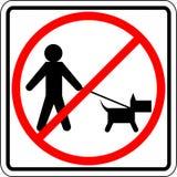 Dog walk prohibited vector sign Royalty Free Stock Image