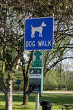 Dog walk sign Royalty Free Stock Photos