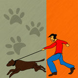 Dog Walker Royalty Free Stock Photography