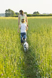 Dog Walking Royalty Free Stock Photography