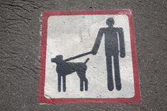 Free Dog Walking Sign Royalty Free Stock Photos - 39599018