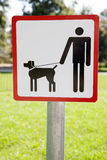 Dog Walking Sign Stock Photo