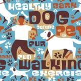 Dog walking tile Stock Photo