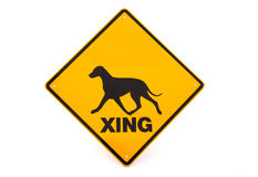 Dog warning sign Royalty Free Stock Image