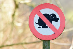 Dog warning sign Royalty Free Stock Photography