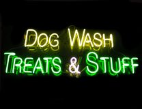 Dog Wash Treats & Stuff. Neon Sign Royalty Free Stock Image